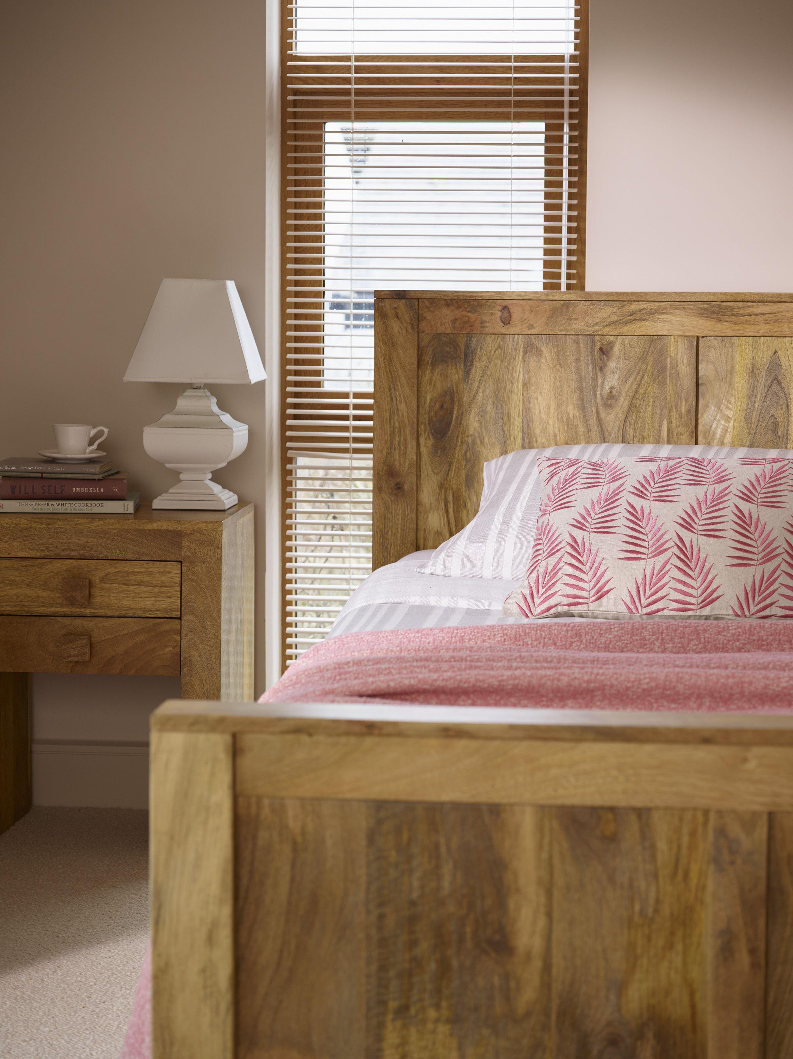 Mantis Light Natural Solid Mango 5ft KingSize Bed Bed
