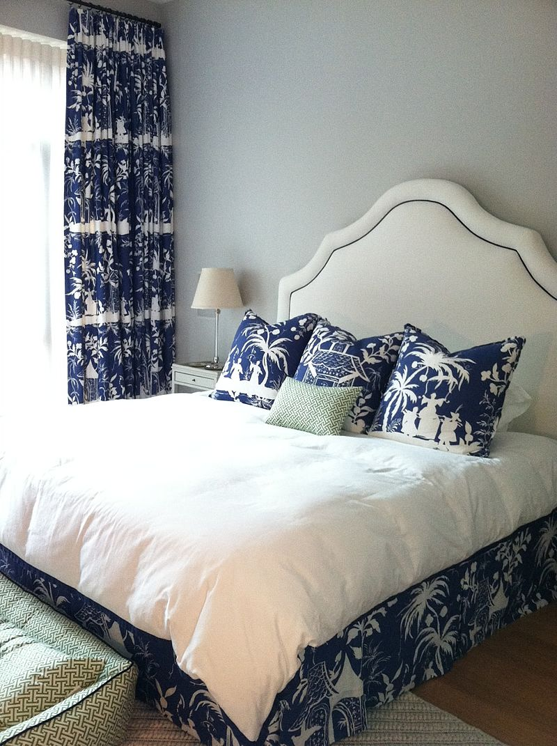 The Glam Pad Beautiful Blue And White Bedrooms  Bedrooms Magnificent Blue White Bedroom Design Design Ideas