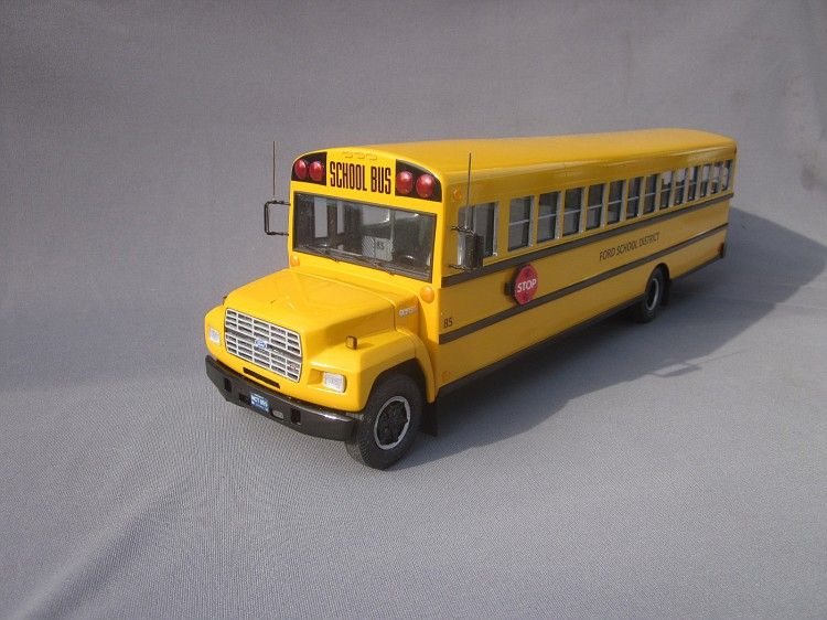 By:Jeff Duranso - 1/25 scale 1985 Ford B700 72 passenger School ...