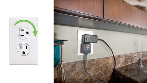 Rotating Electrical Outlet Electrical Outlets Home Cool Stuff
