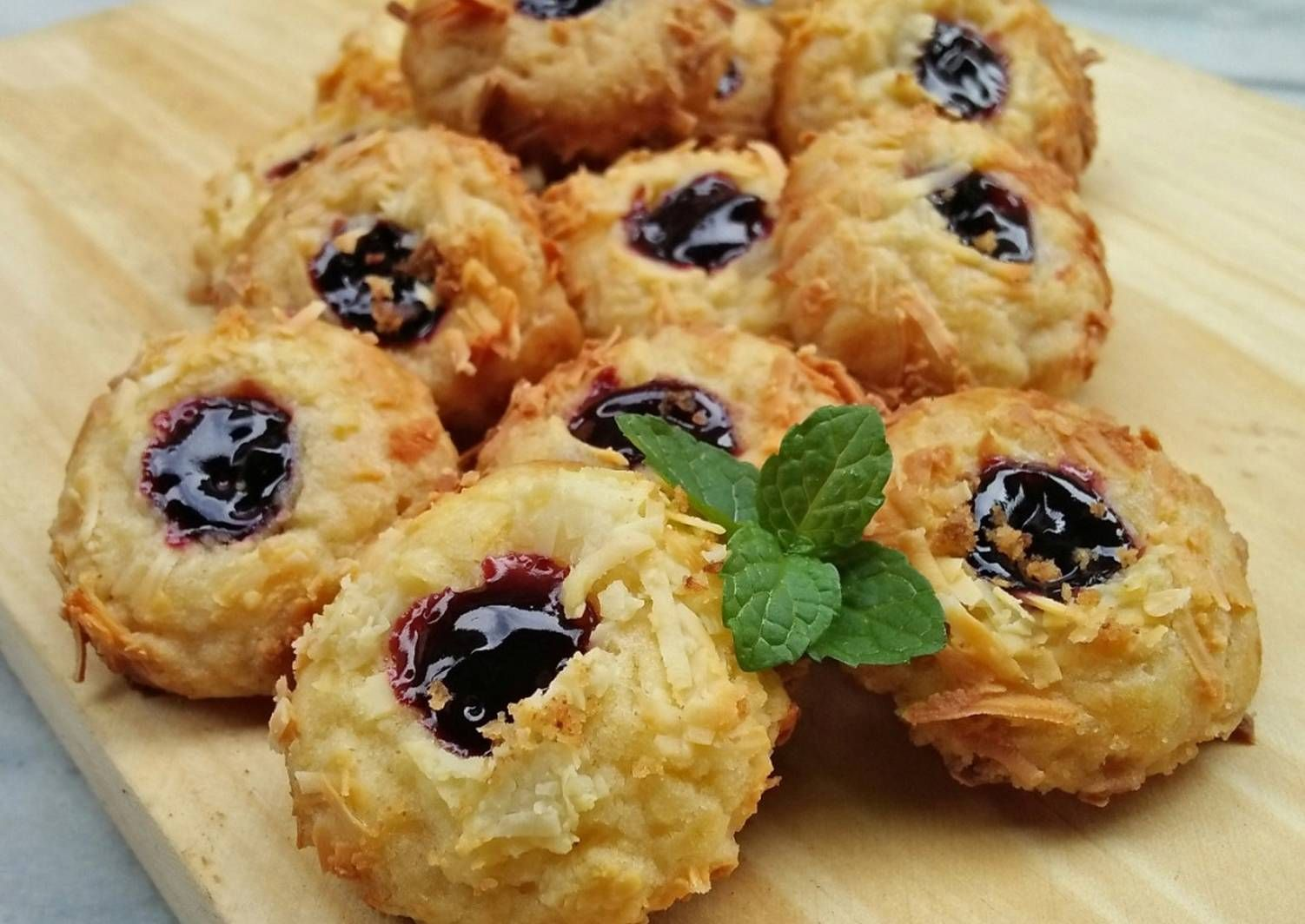 Resep Blueberry Cheese Thumbprint Cookies Oleh Dilla Wahab Resep Blueberry Masakan Resep