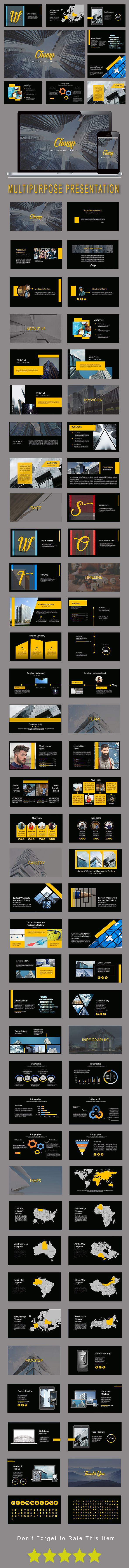 Champ Multipurpose Powerpoint Template | TEMPLATE | Power Point ...