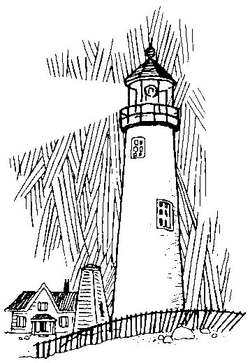 Lighthouse coloring page | Fun Coloring Pages for Kids and Adults ...