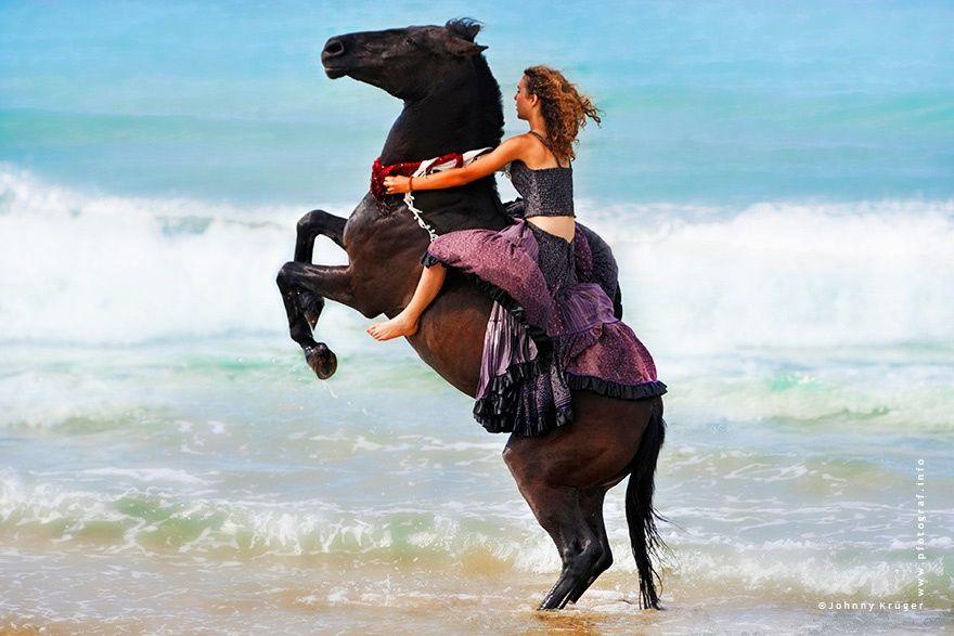 Цыганка и лошадь картинка