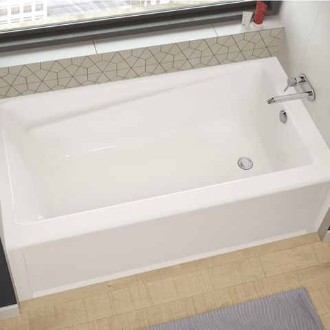 shop maax 59.75-in white acrylic skirted bathtub with right-hand