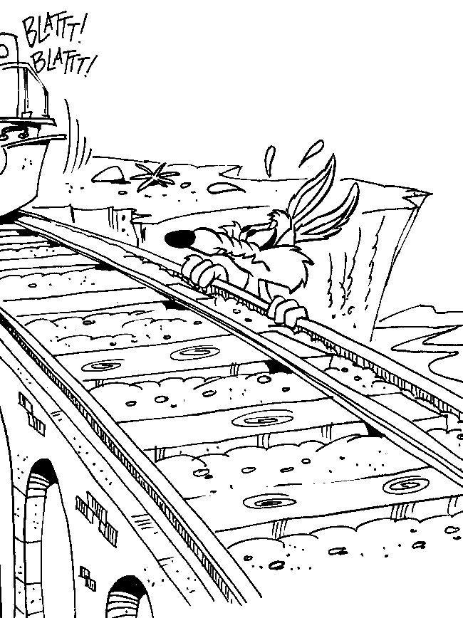 Dibujos para Colorear Correcaminos y el Coyote 3   Dibujos para ...