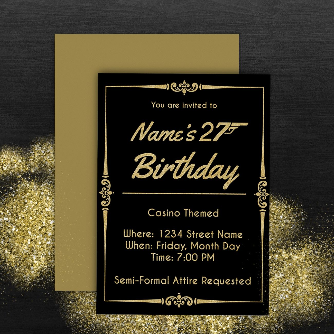 Semi formal birthday invitation invitation inspiration pinterest semi formal birthday invitation filmwisefo