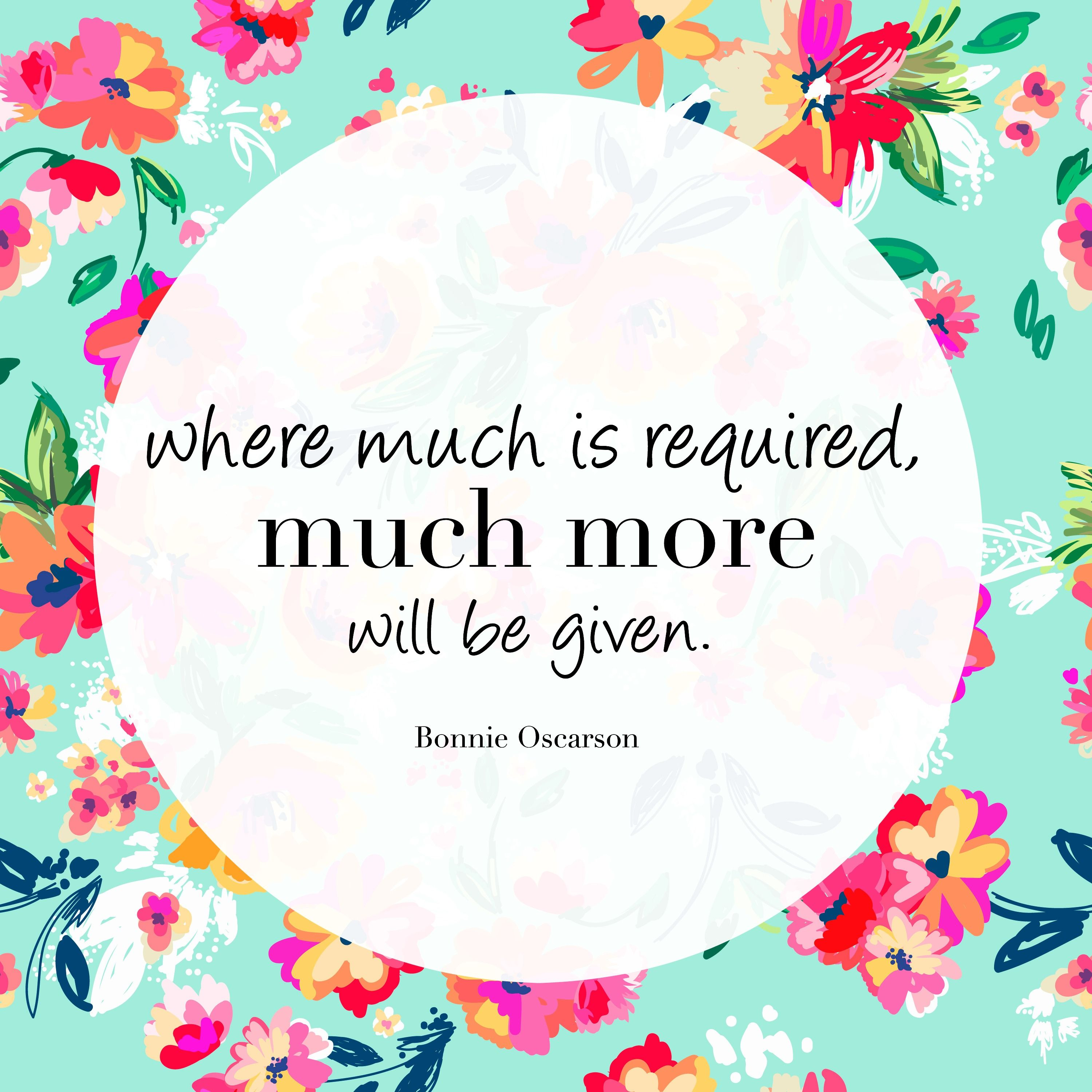 Lds missionary quotes or thoughts quotesgram - Sister Oscarson Where Much Is Required Much More Will Be Given Lds Quotesquotes