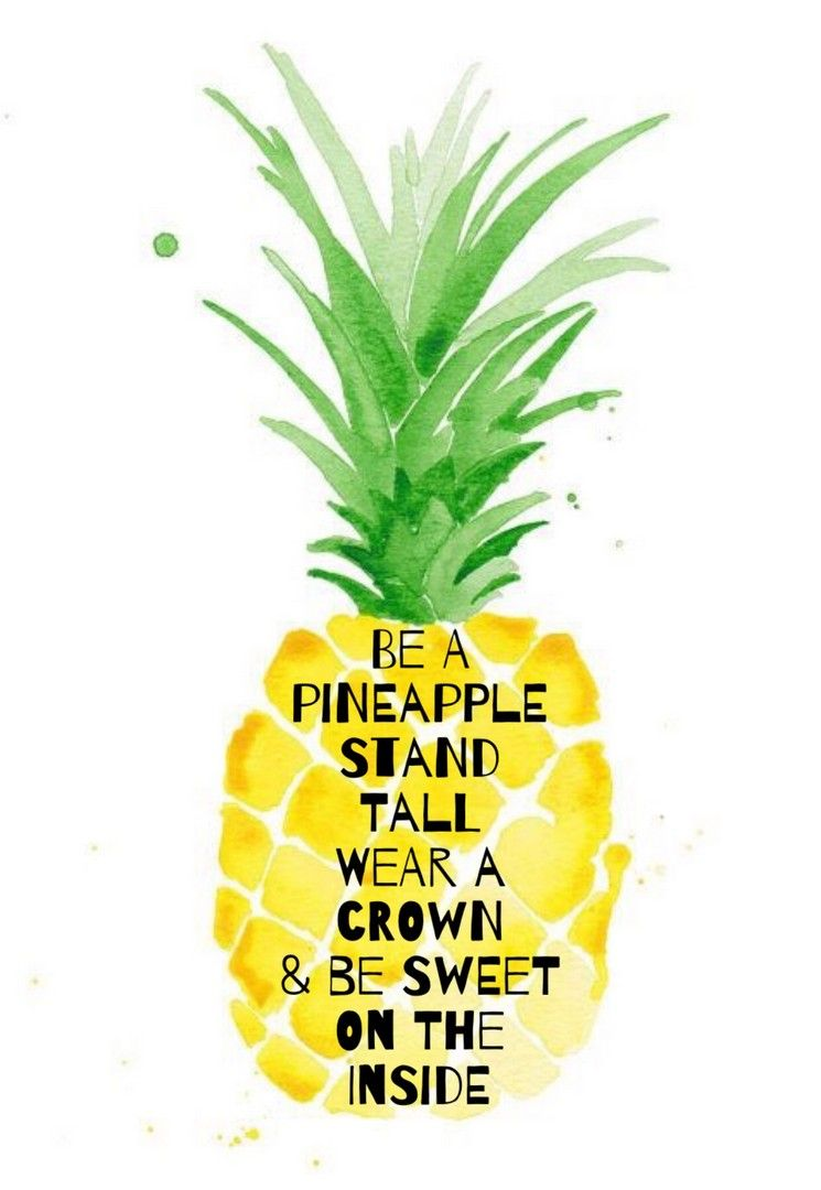 Cute Pineapple Quotes Iphone Wallpaper Iphonewallpapers
