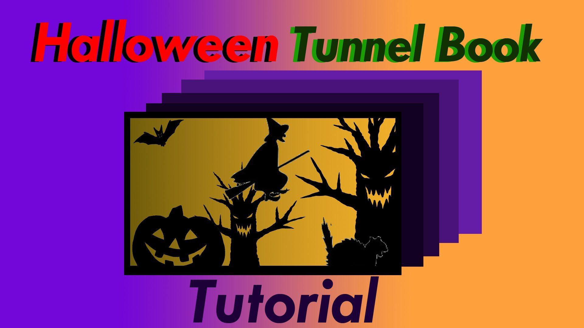 Halloween Tunnel Book - Diorama Craft Tutorial