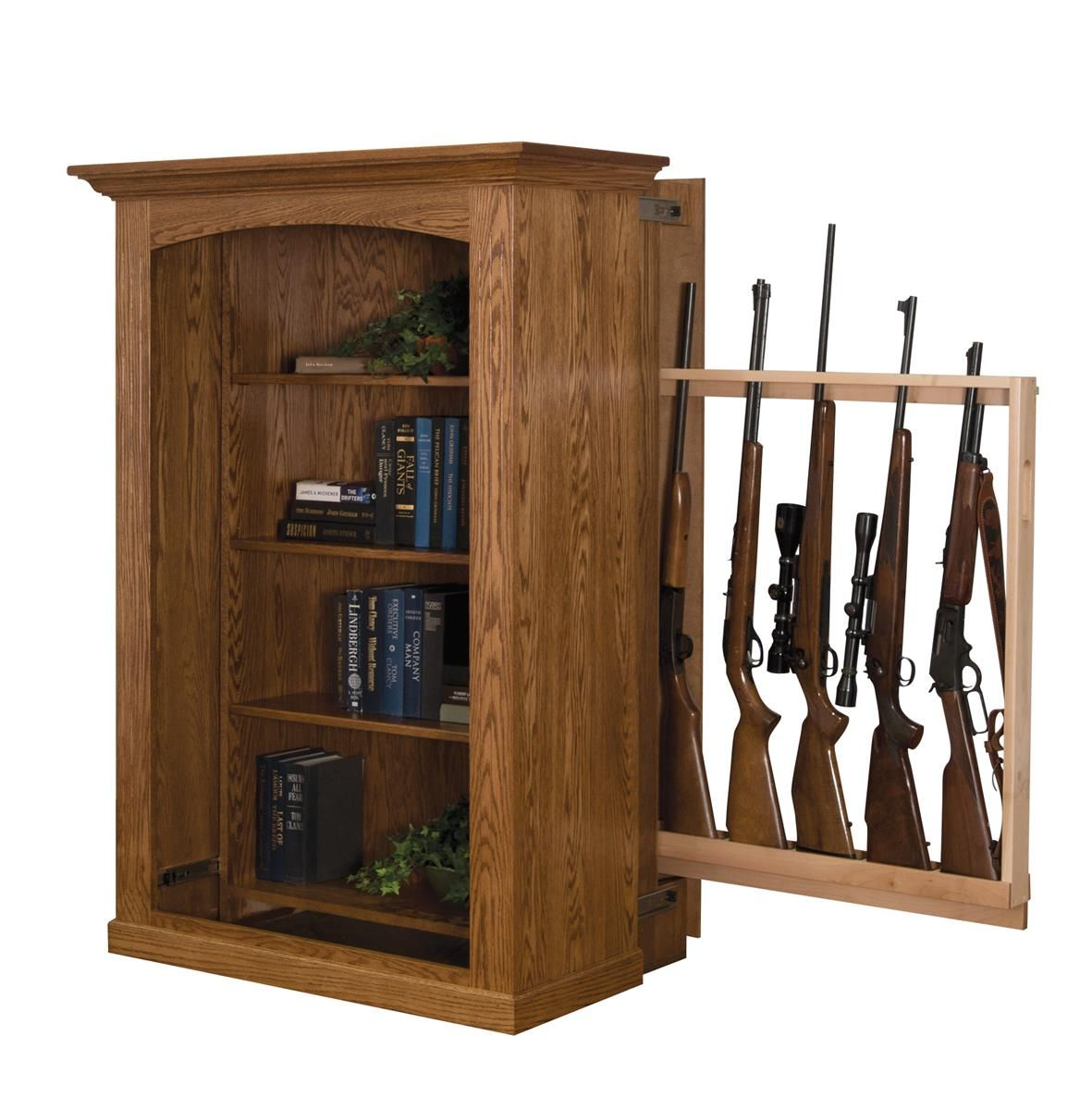 Attirant Patriot II   Small Bookcase With Hidden Gun Cabinet