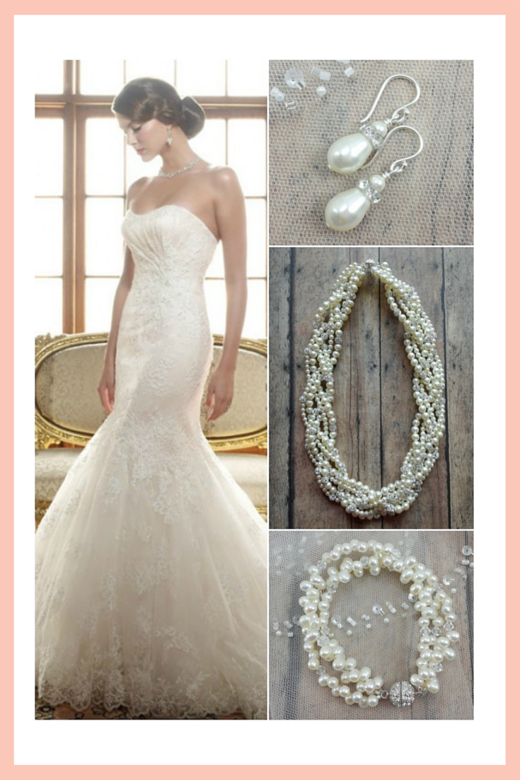 What jewelry should i wear with my wedding dress bridal style