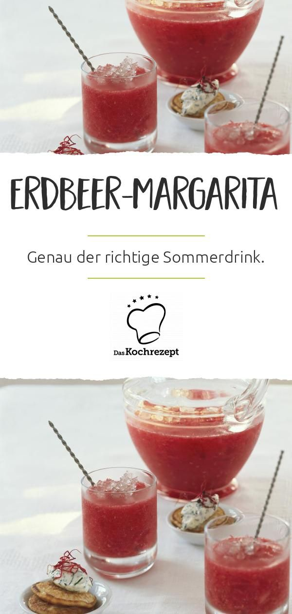 Erdbeer Margarita (Cocktail oder Bowle)