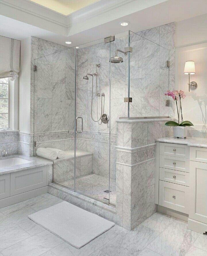 Classic Grey-white Bathroom • Pinterest FernandaAlvz