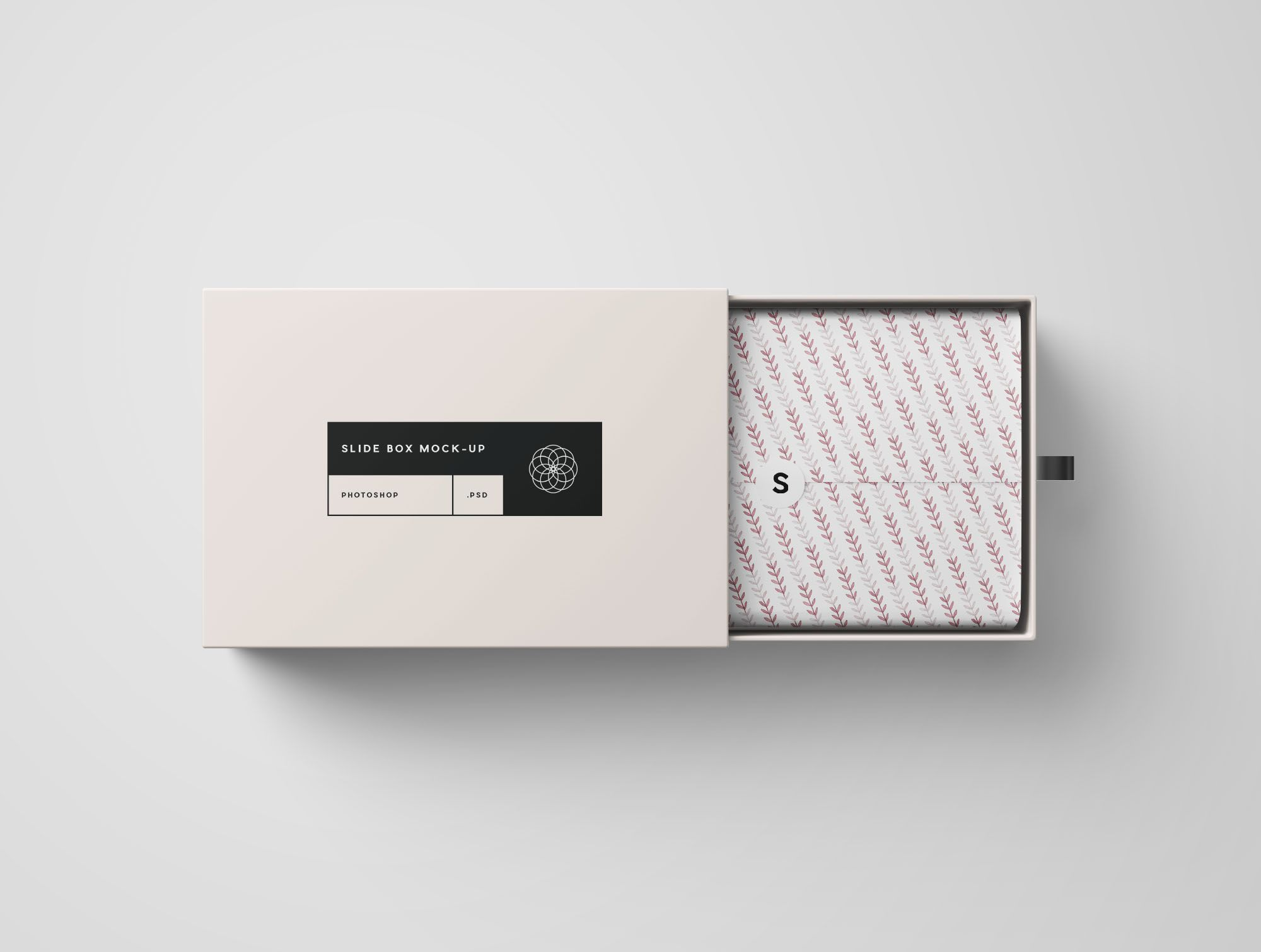 Download Opened Rectangle Slide Box Mockup Slide Box Free Packaging Mockup Box Mockup