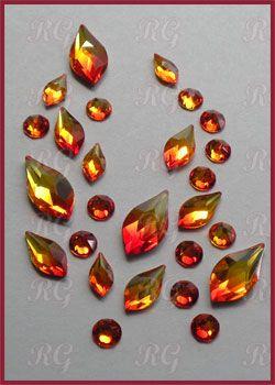 835fc1327 Swarovski Flames with Fire Opal Rhinestones | Jewelry | Swarovski ...