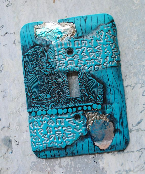 Beneath the Surface turquoise polymer clay over by TMBakerDesigns