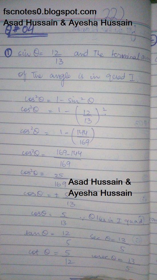FSc ICS FA Notes Math Part 1 Chapter 9 Fundamentals of