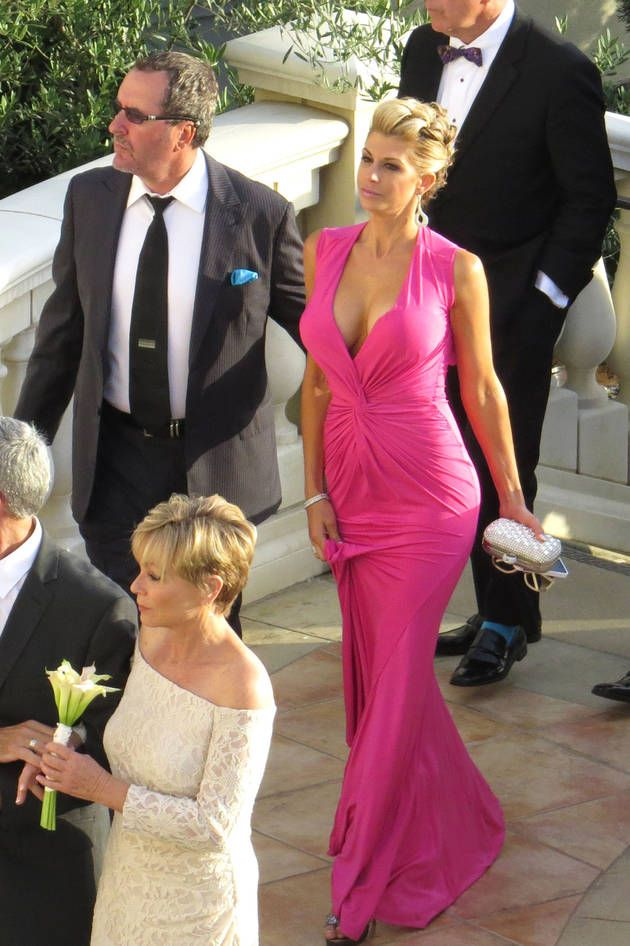 Love the dress Alexis Bellino wore to the wedding of Tamra Barney ...