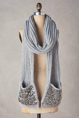 Una bufanda con bolsillos integrados. | Pinterest | Regalos ...