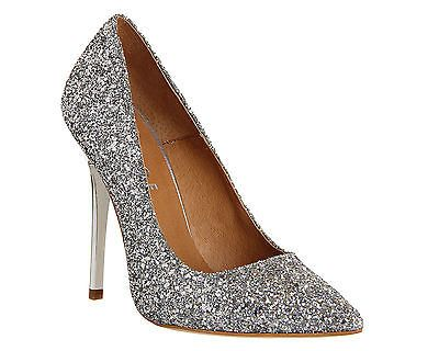 2dd16694efc75 Womens Office On Tops SILVER GLITTER Heels - Size 6 in Clothes ...