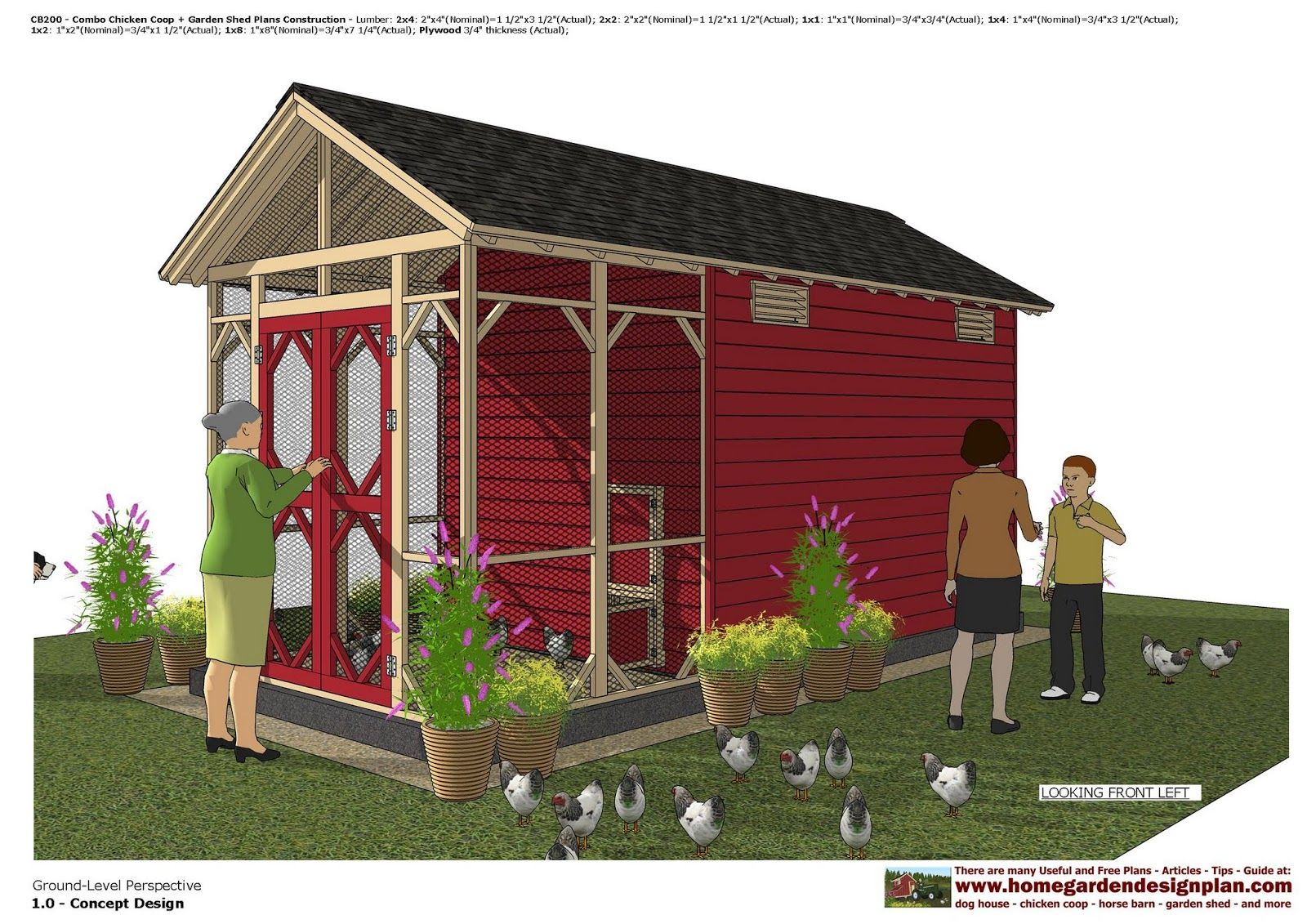 home garden plans: CB200 _ Combo Chicken Coop + Garden ...