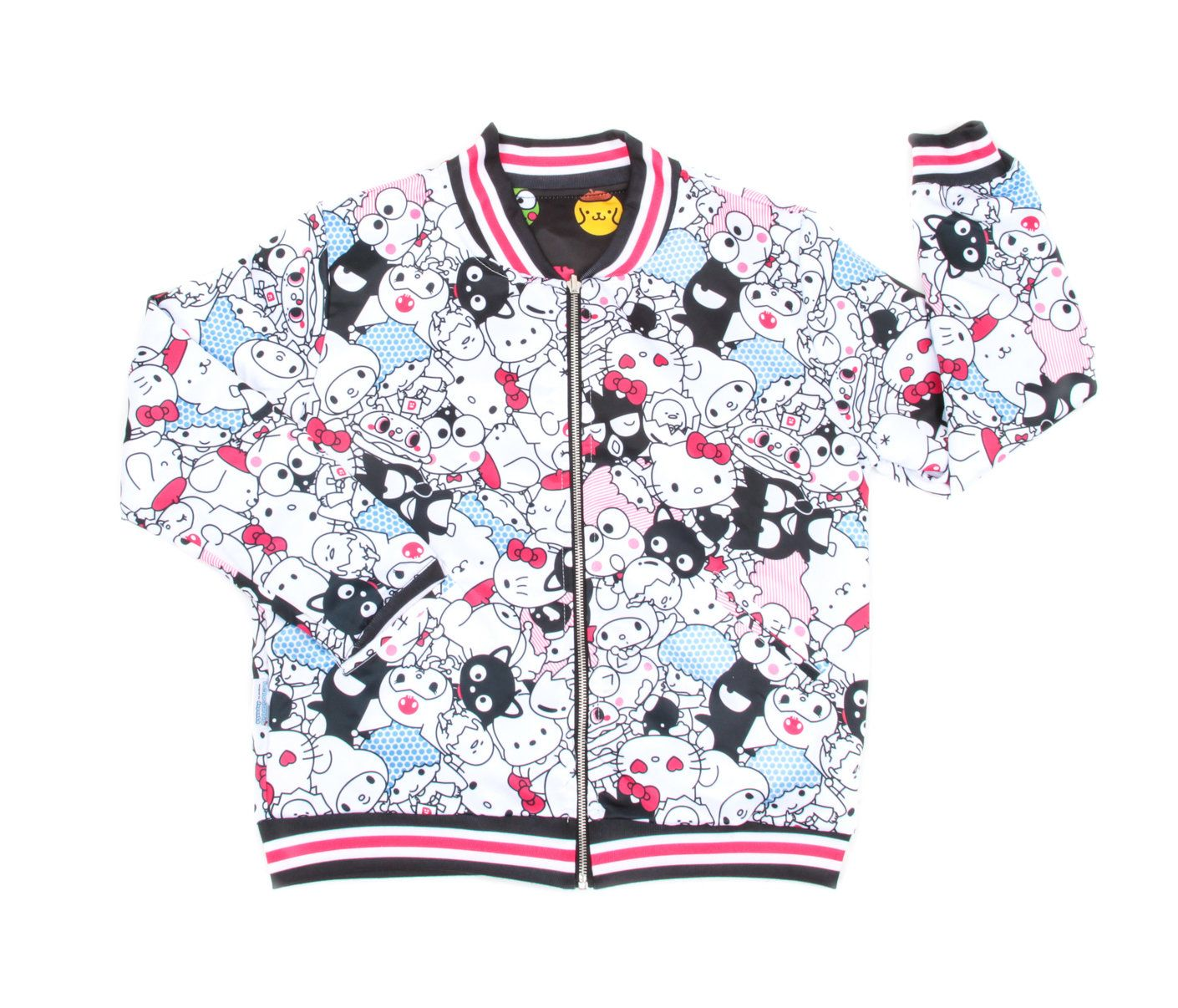 Sanrio Characters Reversible Bomber Jacket Hello Sanrio Sanrio Girls Bomber Jacket Satin Bomber Jacket Bomber Jacket [ 1206 x 1410 Pixel ]