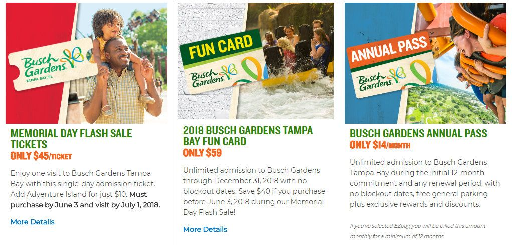Blackout Dates For Busch Gardens Fun Card