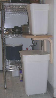 Trash And Recycling Bins They Used Fibbe Sigfrid Shelf Brackets Magasin Cutting Board