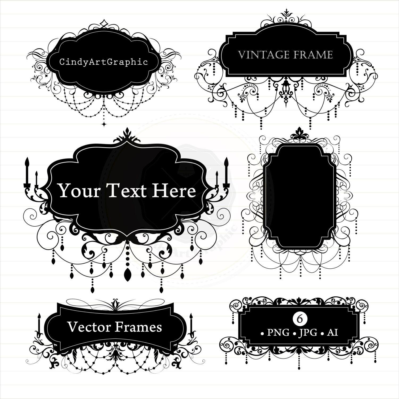 Chandelier Frames SVG, Chandelier Frames Clipart, chandelier svg Cut ...