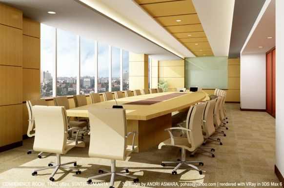 Modern minimalist contemporary office meeting room design for Innovative office space ideas