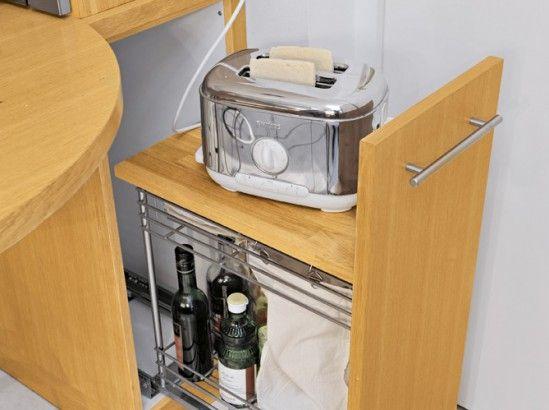 Une cuisine fonctionnelle et conviviale - hauteur entre meuble bas et haut cuisine