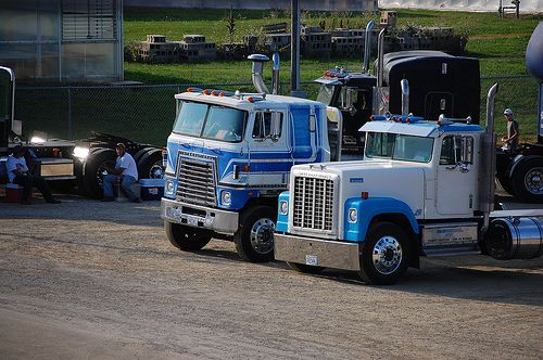 Two Old International Semi Trucks Trucks Semi Trucks
