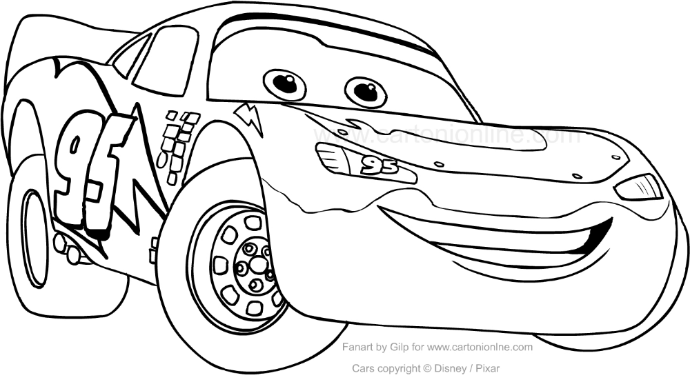 Disegno Di Saetta Mcqueen Car Da Colorare Saetta Mcqueen