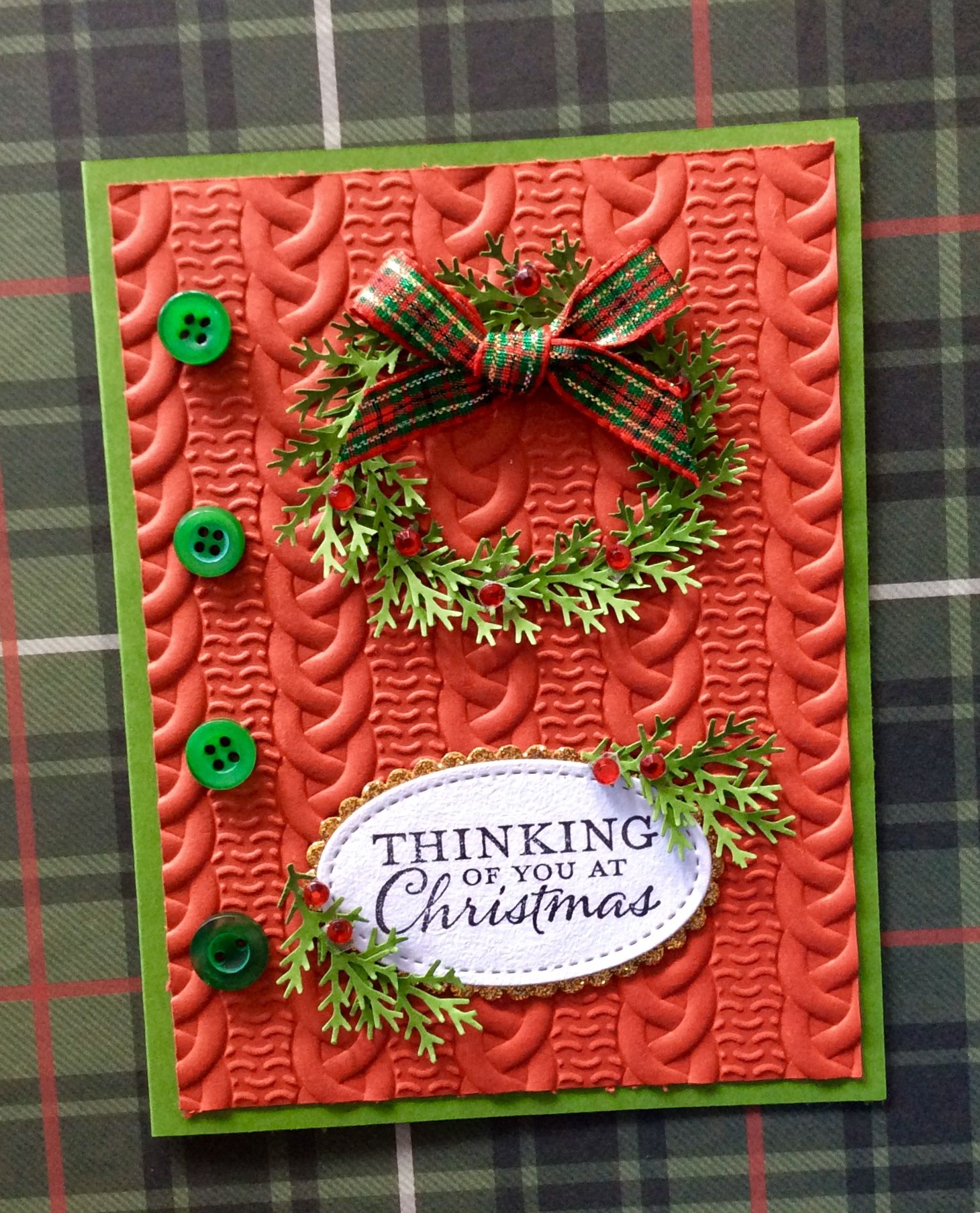 3 cards with the Christmas Wreath Builder Stamp Set by Gin