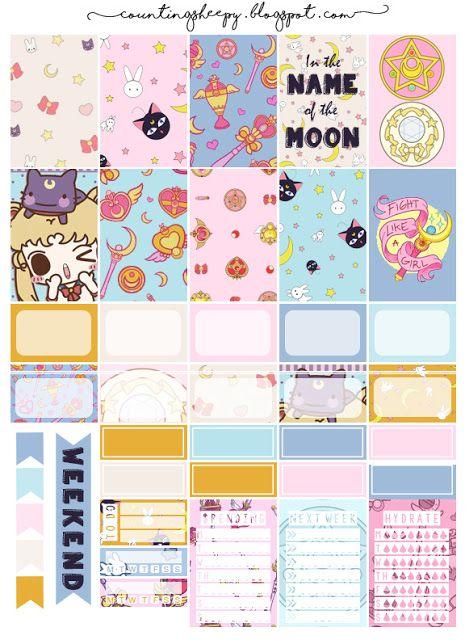 counting sheepy free planner printables sailor moon etiquettes pinterest planificateur. Black Bedroom Furniture Sets. Home Design Ideas
