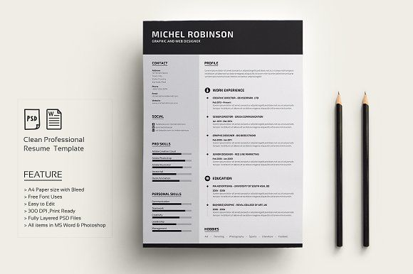 Modern Resume/CV by deviserpark on @Graphicsauthor Resume CV