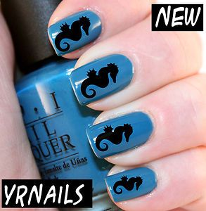 Seahorse Nail Art