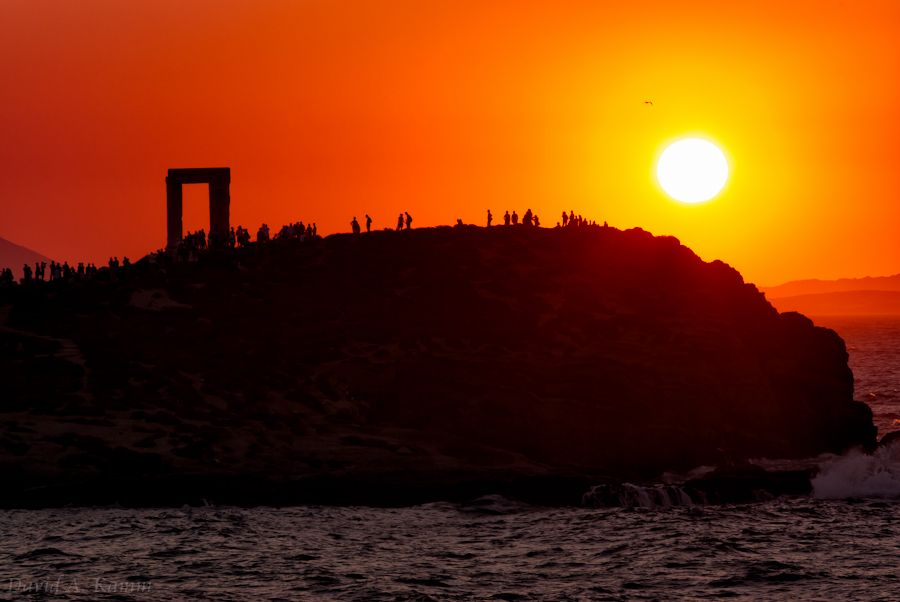 Sunset and the Gate of Apollo (Naxos, Greece) - David Kamm Photoworks - Naxos Sunset - Gate of Apollo