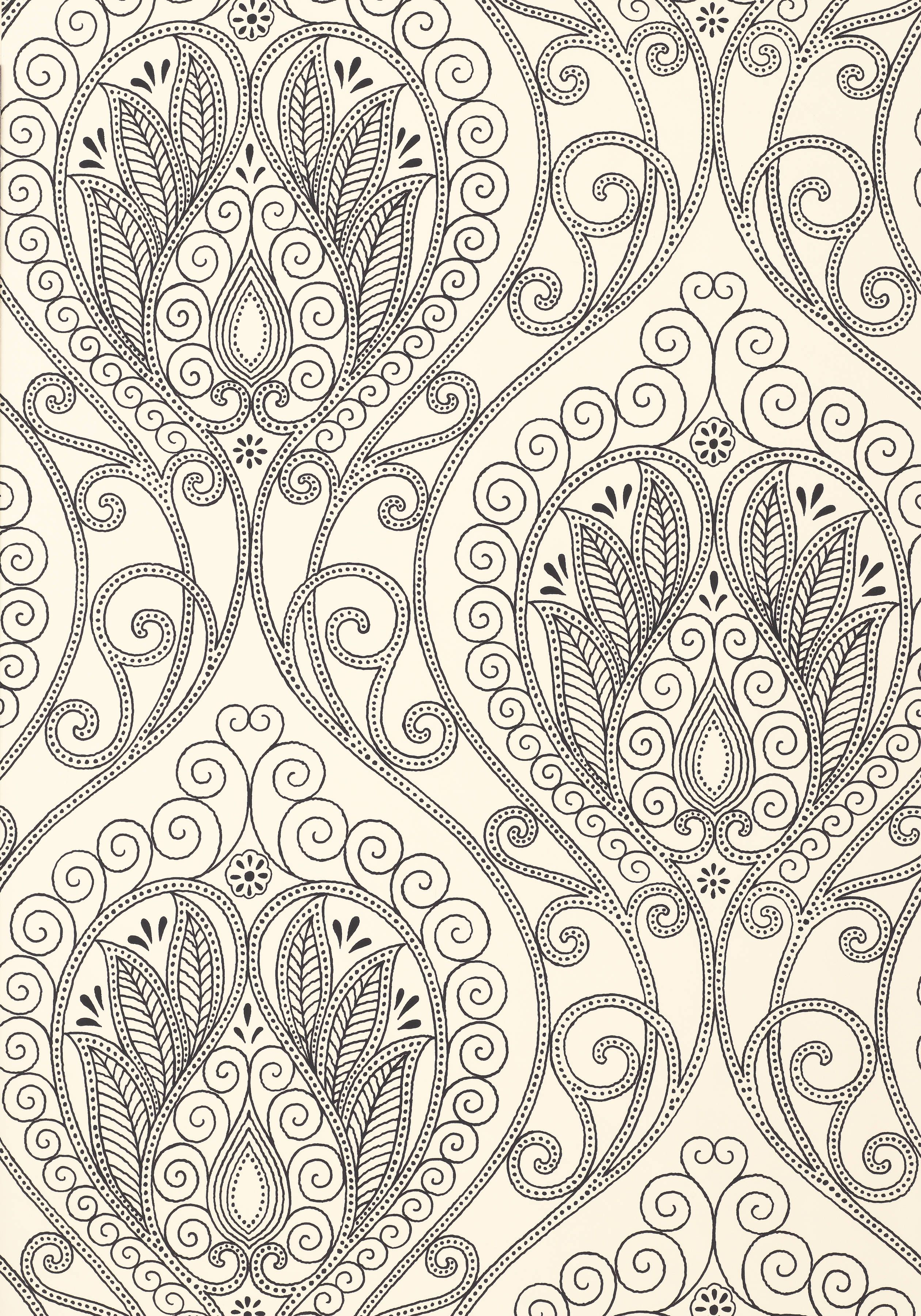 rio black and white t732 collection artisan from thibaut wallpapers patterns paisley. Black Bedroom Furniture Sets. Home Design Ideas