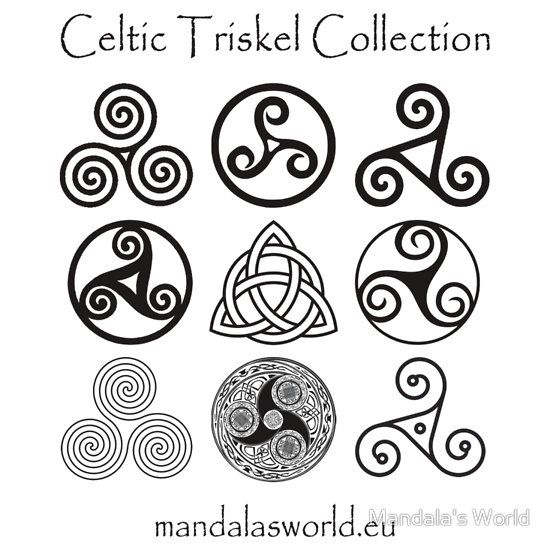 Celtic Triskell Collection Dark Sticker By Jorge Ruiz Con