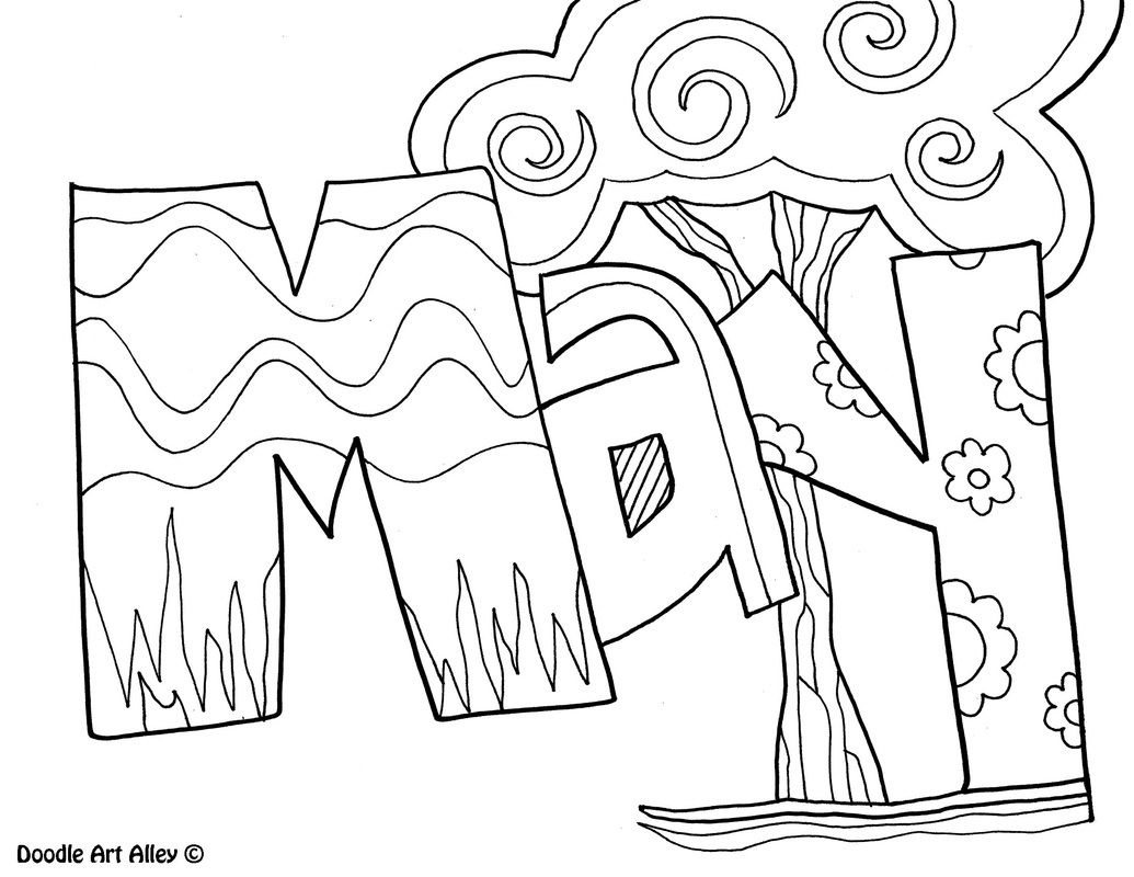 End Of The Year Coloring Pages For Kindergarten : May coloring page doodle art pinterest