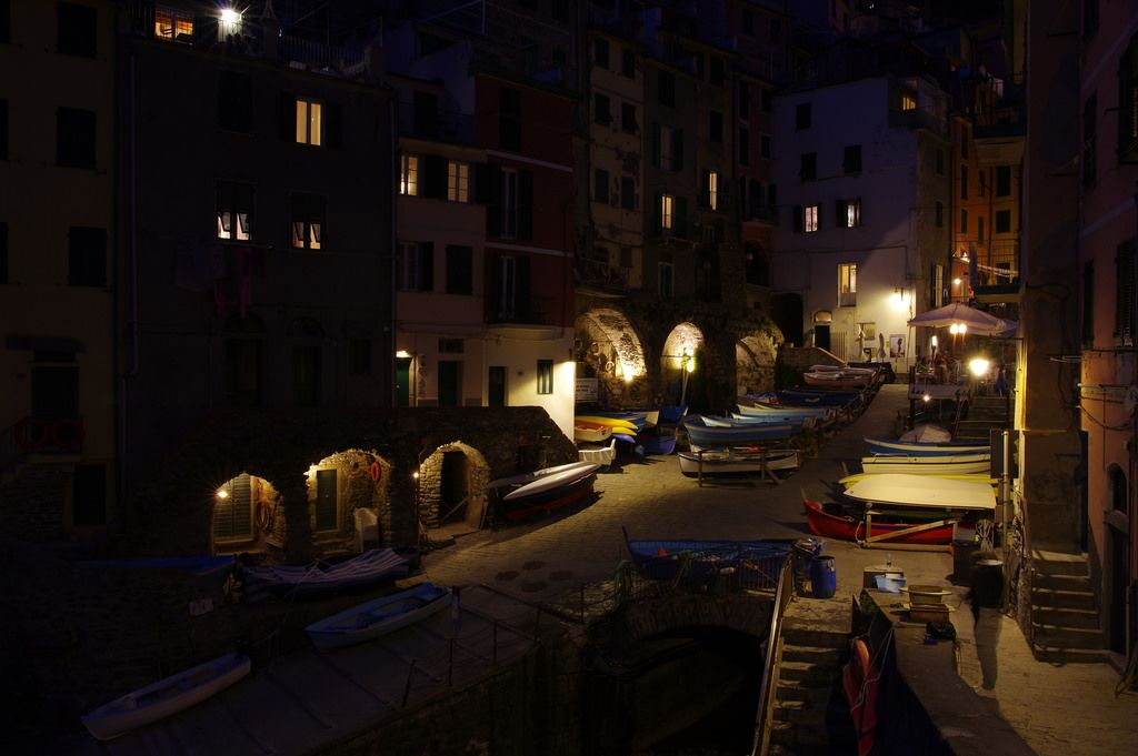 Day 1: Peaceful evening in Riomaggiore harbour by Gregor  Samsa