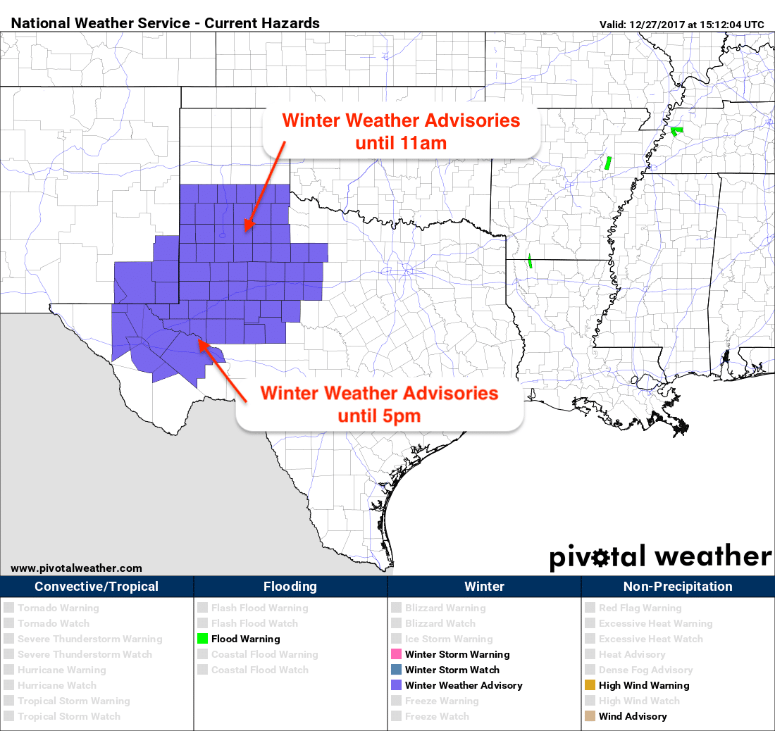 Winter Weather Advisories Remain In Place Across Much Of West Texas This Morning As On And Off Freezing Drizz Winter Weather Advisory Winter Weather Gloomy Day