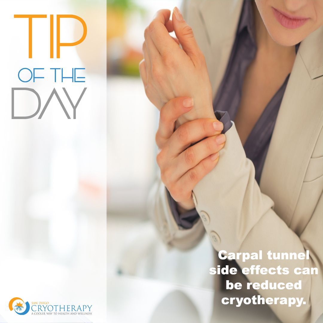 Tip Of The Week The Side Effects Of Carpal Tunnel Can Be Reduced With Localized Cryotherapy Inflammation Low Level Laser Therapy Fights Inflammation