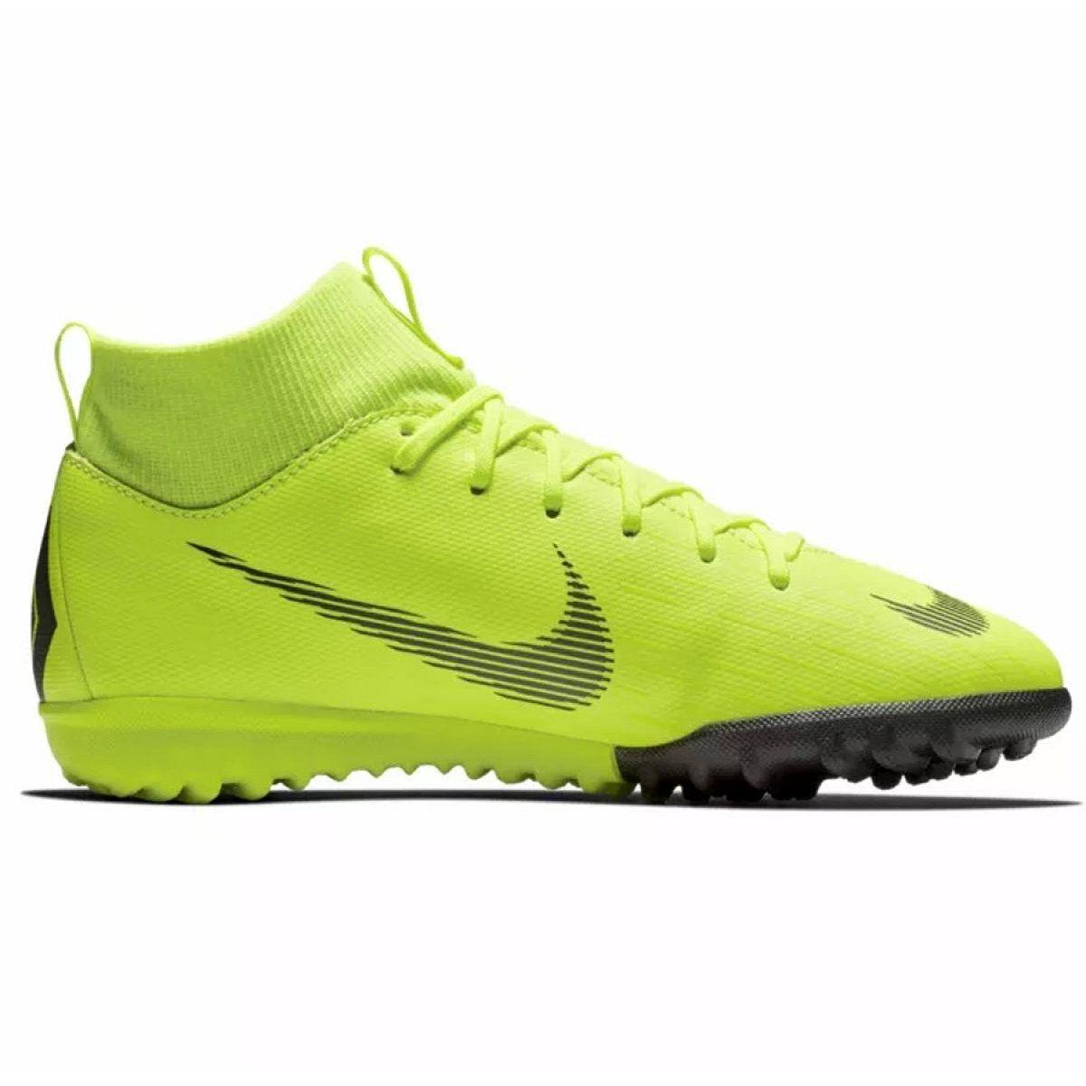 Buty Pilkarskie Nike Mercurial Superflyx 6 Academy Gs Tf Jr Ah7344 701 Zolte Zolte Football Boots Football Shoes Nike Football