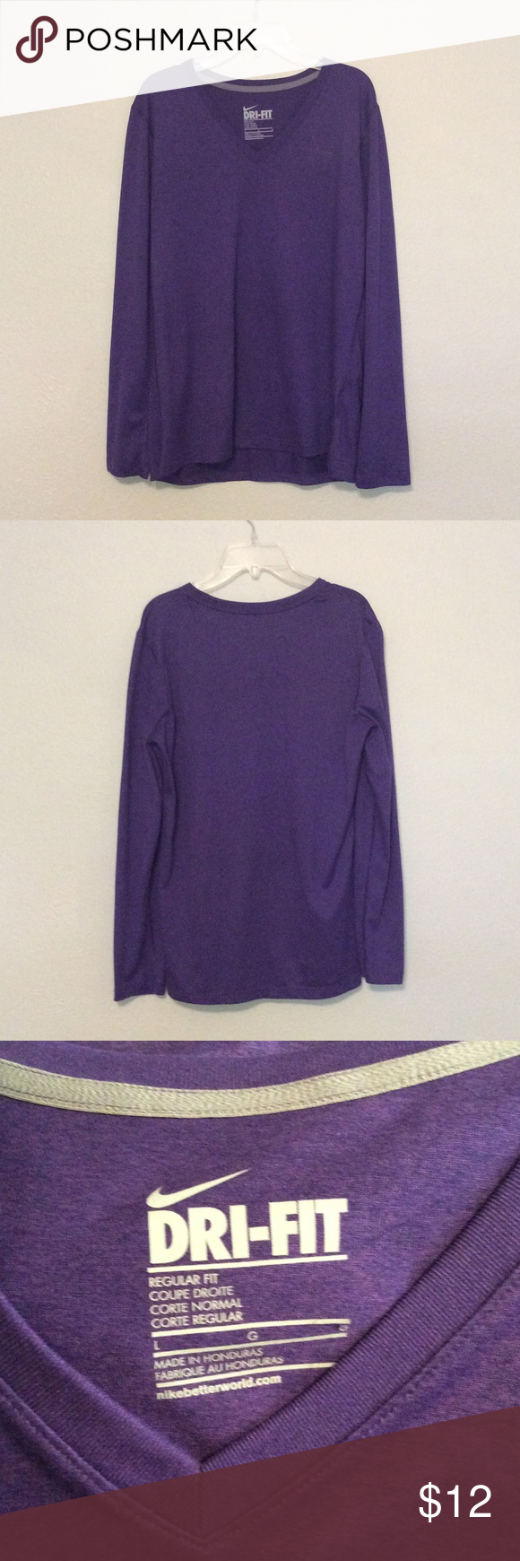 Nike Long Sleeve Dr-Fit Women's Nike Dri-Fit Regular fit. In excellent condition. Only worn a couple times, no tears or stains. Nike Tops Tees - Long Sleeve