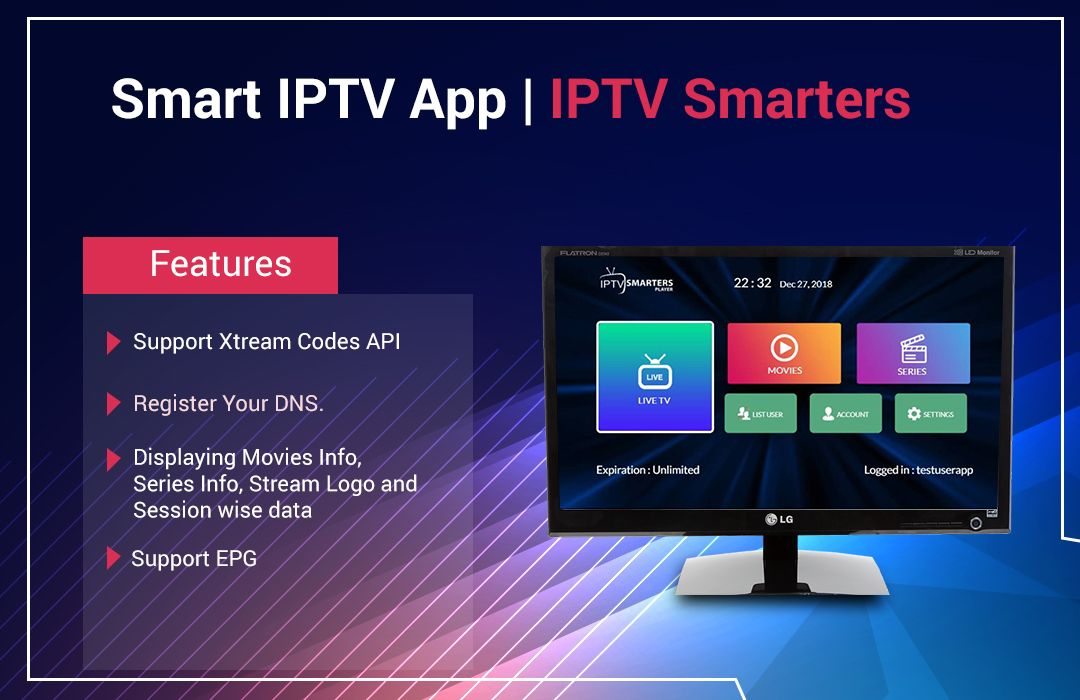 IPTV Smarters LG Smart TV App is a video streaming
