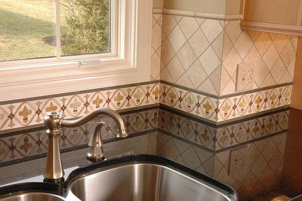 Hand Painted Kitchen Border Tile Backsplash By Nealu0027s Design Remodel.
