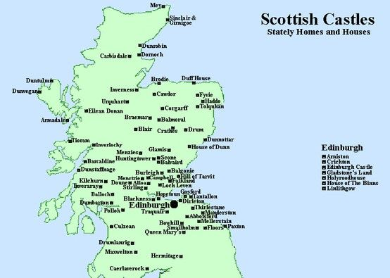 map of castles in scotland Yes please Pinterest